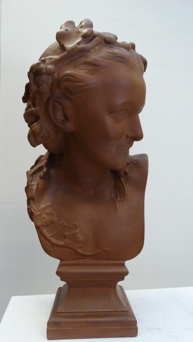 """""""l'espiègle"""" buste en  plâtre d'après JB Carpeaux-photo-1"""