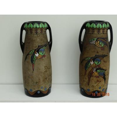 Paire de vases Amphora