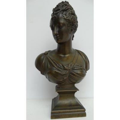 Young Woman Antique Bust