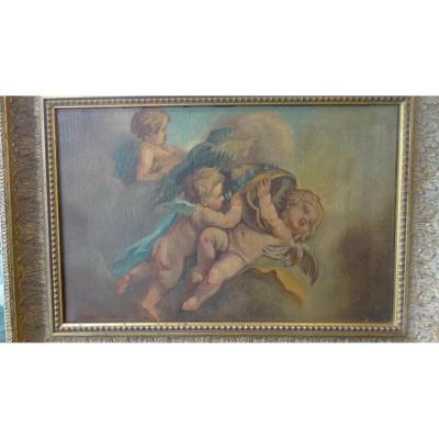 """the Dance Of Cherubs"" French School"