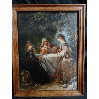 """""""tea Lovers"""", Genre Scene From The 19th"""
