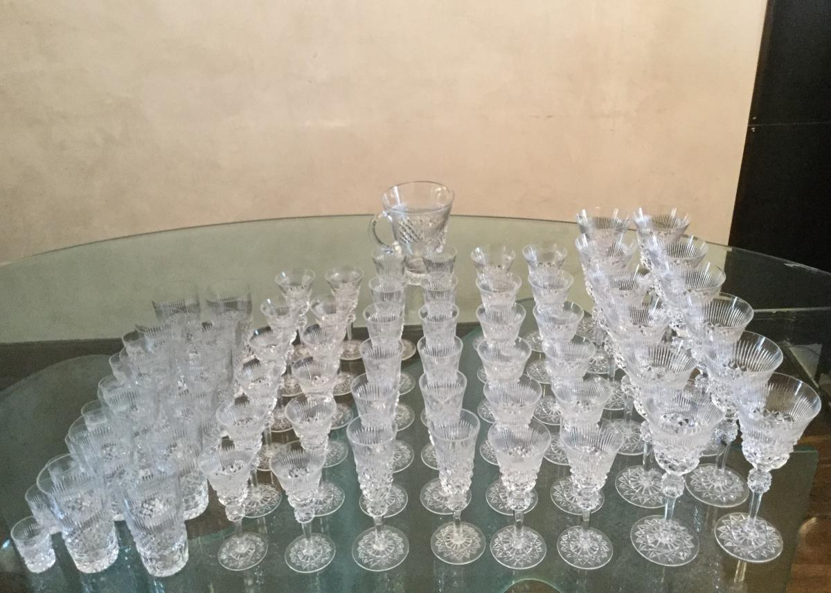 Service cristallerie de lorraine taille main 73 pi ces verre vin champagne - Cristallerie de lorraine ...