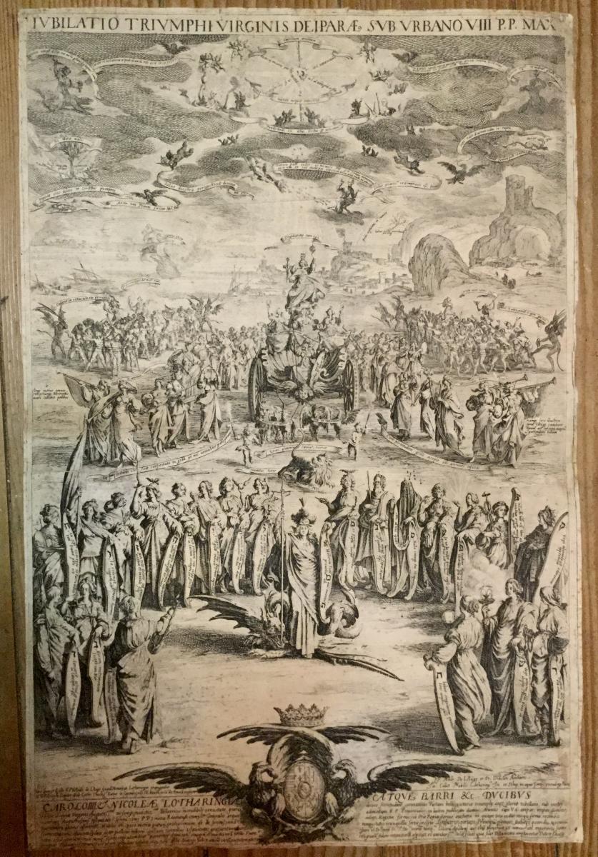 Callot Jacques 1625 Eau-forte Le Triomphe De La Vierge 370 X 555 Mm