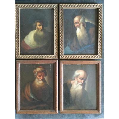 Dietrich Christian Wilelm Ernst 1712-1774 ( Attribué ). Allemagne 4 Portraits