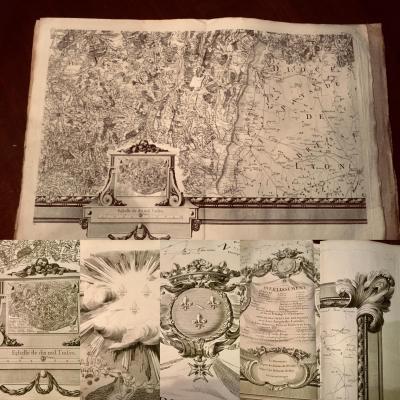 1763 Seguin Carte Particulière Du Duché De Bourgogne 300 X 234 Environ