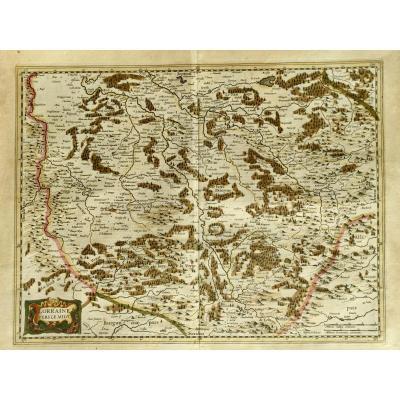 Carte De 1633 Vosges Epinal  Lorraine Vers Le Midi Par Johannes Janssonius (1588-1664)