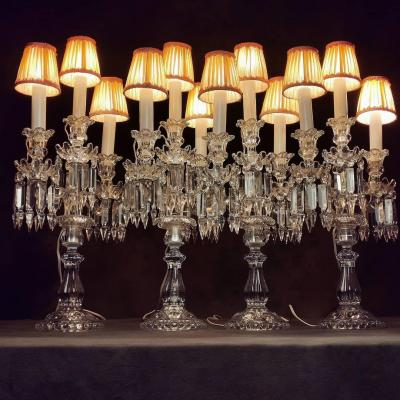 Baccarat 4 Girandoles à 3 Lumières Au Modeles Bougeoirs Candélabres