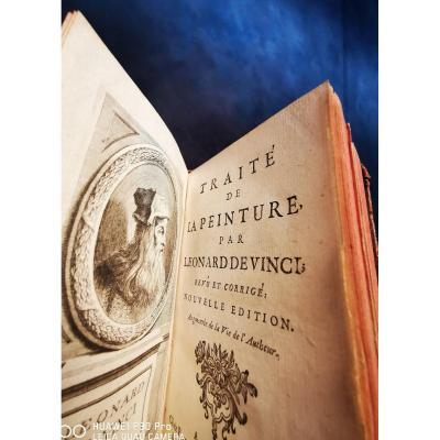 Léonard De Vinci Traite De La Peinture 1716 Giffart Paris Book