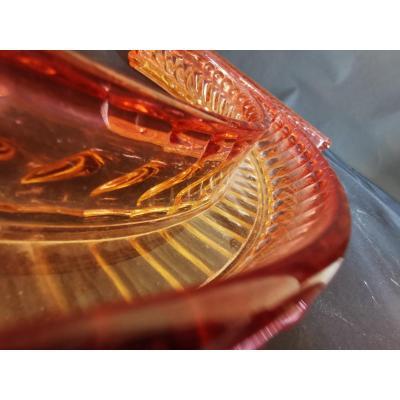 Baccarat Centre De Table En Baccarat Modele Bambou Rouge 122 Cm Par 30 Cm