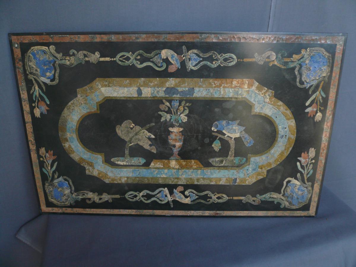 Tablette En Marbre Incrustation De Scagiole XVIIIème