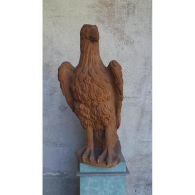Statue Aigle En Terre Cuite