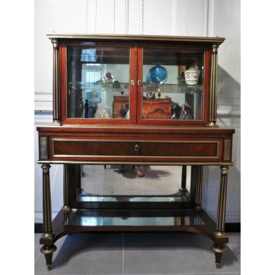 Console Louis XVI Display In Mahogany