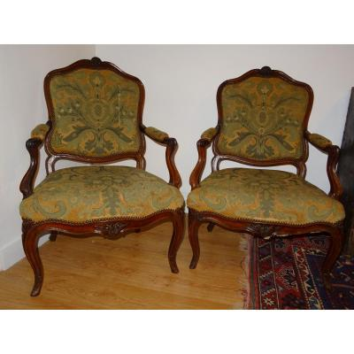 Pair Of Louis XV Flat Folding Chairs