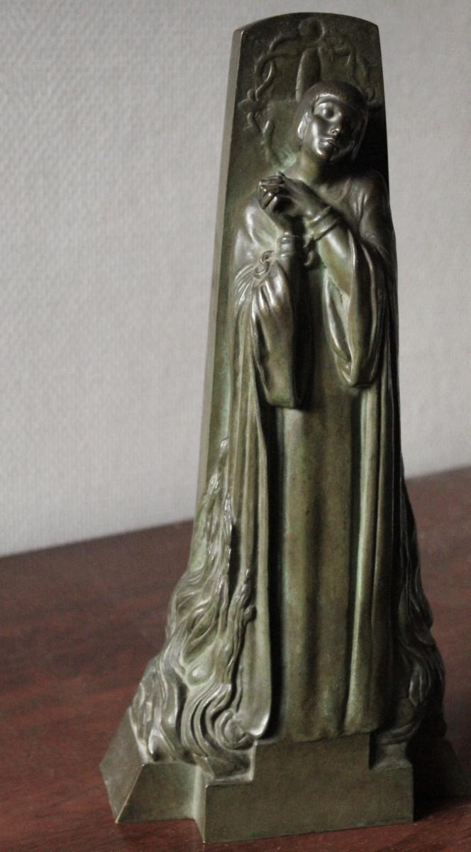 """""""jeanne Au Bûcher"""", Bronze, Real Del Sarte"""