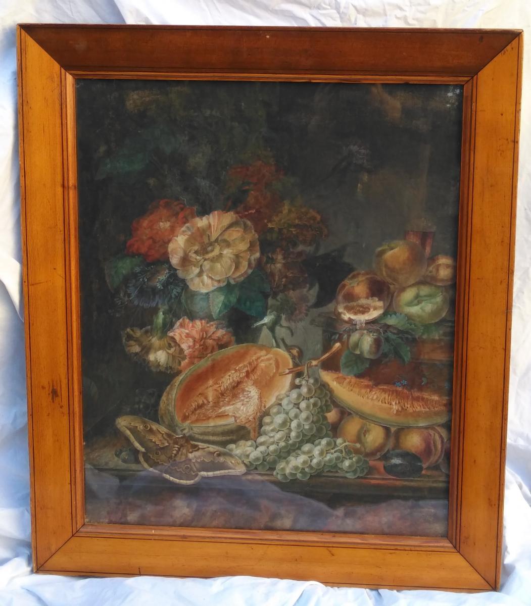 Paire De Natures-mortes d'Anne Brettingham De Carle, XVIIIe siècle-photo-4