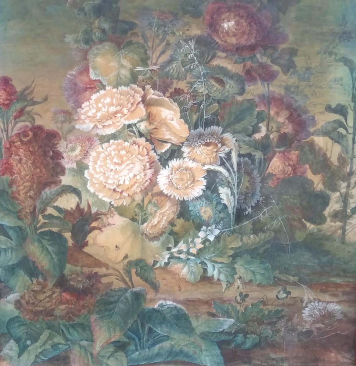 Paire De Natures-mortes d'Anne Brettingham De Carle, XVIIIe siècle-photo-3