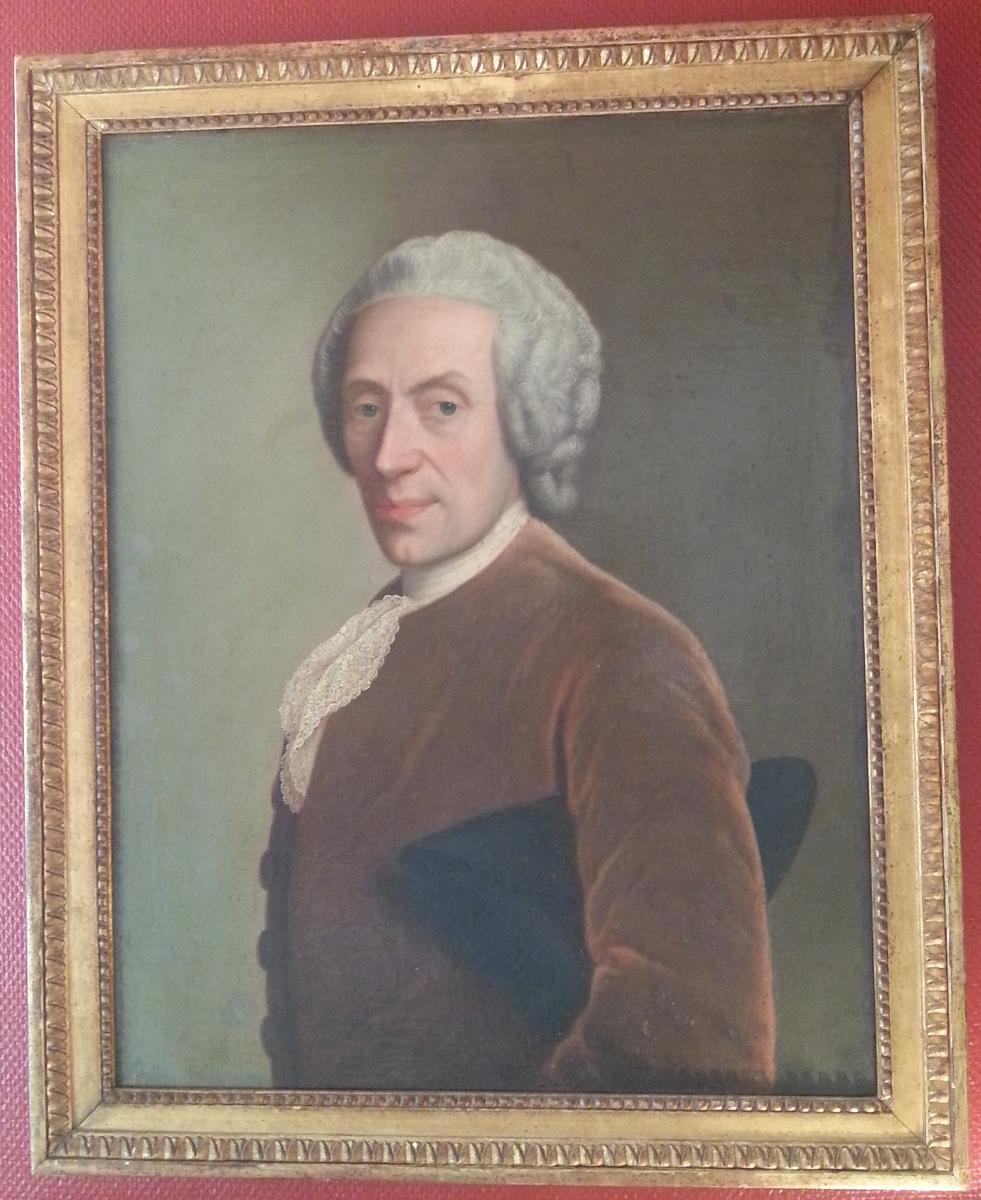 Portrait d'Homme Au Tricorne Du XVIIIème Siècle