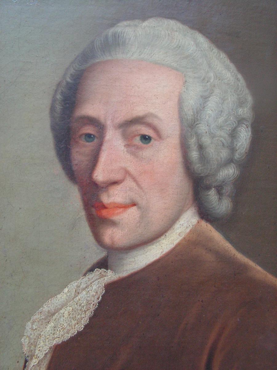 Portrait d'Homme Au Tricorne Du XVIIIème Siècle-photo-2
