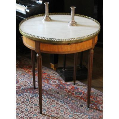 Table Bouillotte d'époque Louis XVI - Citronnier et amarante
