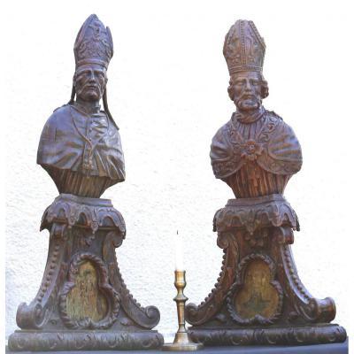 Importante Paire De Reliquaires d'époque Régence