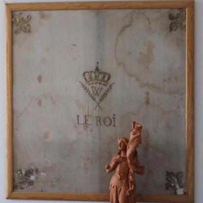 """Grand Drapeau Royaliste D'époque Révolutionnaire Brodé De Fil d'Or : """"vive Le Roi"""""""