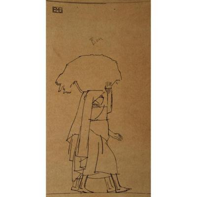 Série De 5 Dessins Orientalistes De Bernard Boutet De Monvel