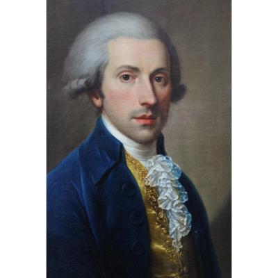 Portrait d'Homme De Qualité Attribué à Lampi (1751-1830)