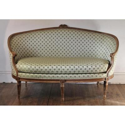 Petit Canapé Corbeille D'époque Louis XVI