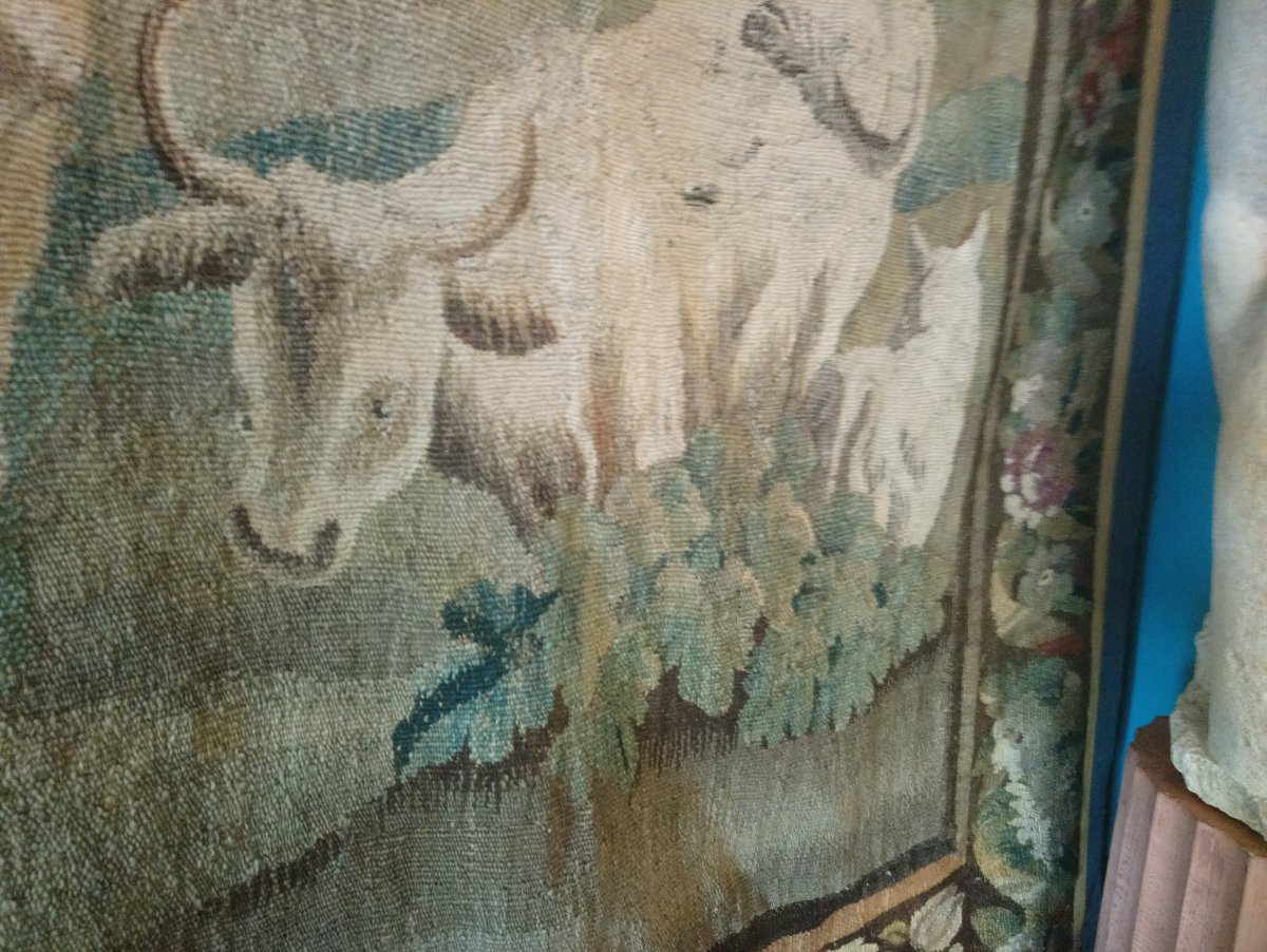Aubusson Tapestry From The Eighteenth The Merchant Of Forgotten
