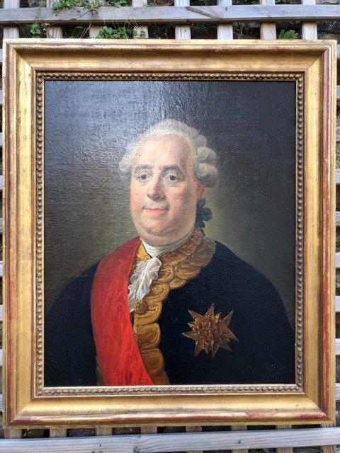 Portrait d'époque Louis XVI Huile Sur Toile