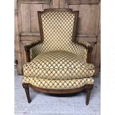 Louis XVI Period Bergere In Natural Beech