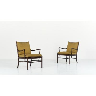 Ole Wanscher, Pair Of Pj 149 Armchairs For Poul Jeppesen. Denmark, C. 1950