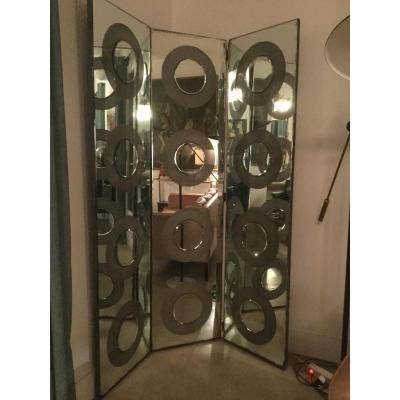Art Deco Mirrored Screen