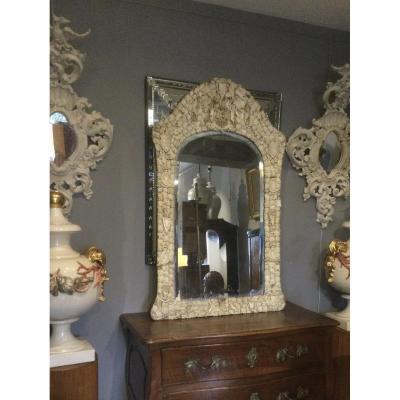 Grand Miroir De Dieppe Vers 1850/60