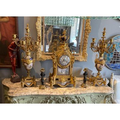Louis XVI Style Napoleon III Fireplace Garnish