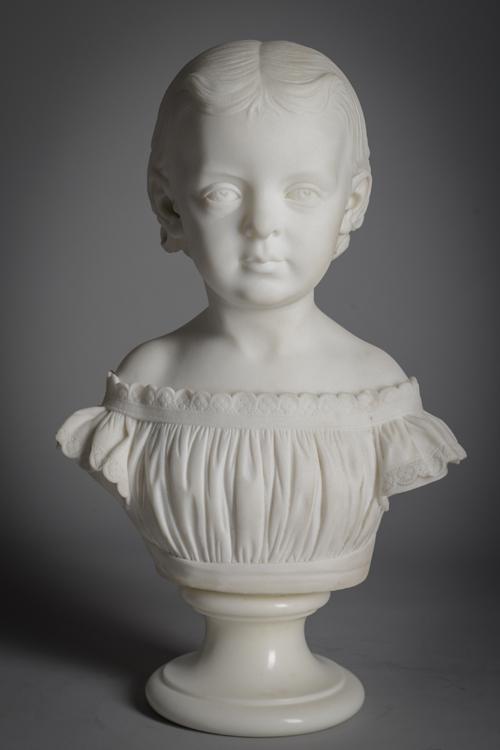 Little Girl Bust Marble