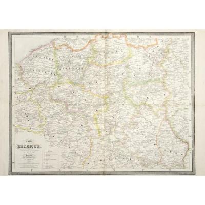 Gravure Sur La Belgique Circa 1840
