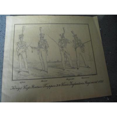Pair Of Drawings (  Infantry And Cavalry Regiment In 1835