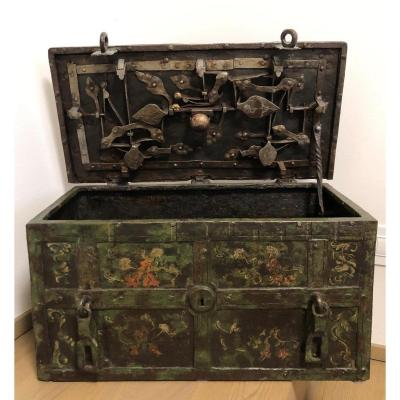 Painted Iron Chest