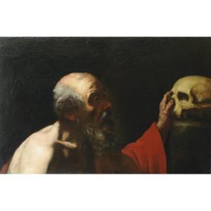 "Oil Painting On Canvas ""san Girolamo Penitente"""