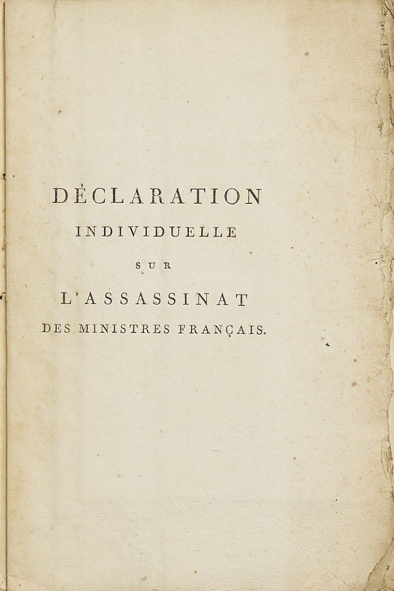 Déclaration Individuelle Sur L'assassinat Des Ministres Français à Rastadt-photo-3