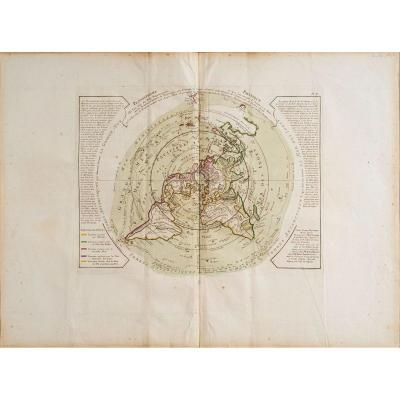 Physical Planisphere Where You Can See From Pole Septentriona