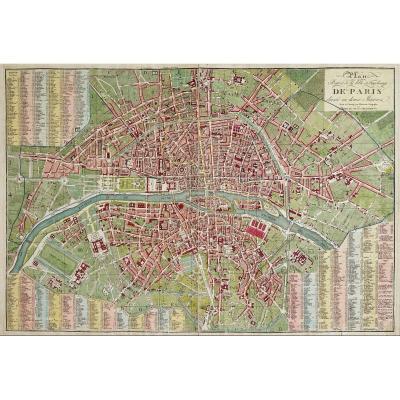 Plan Routier De La Ville Et Fauxbourgs De Paris Divisé En Douze Mairies