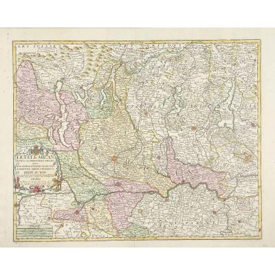 The State Of Milan Divided Into Its Main Parts: With Part Of The States Of Venice And The Duchs