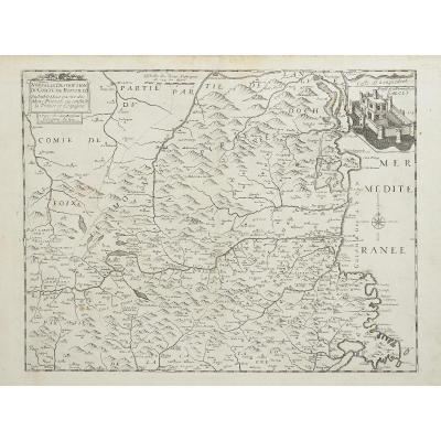 New Description Of The County Of Roussillon, Set Of Part Of The Pyrenees Mountains Or Confin