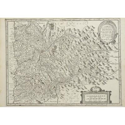 Carte Et Description Générale De Dauphiné Avec Les Confins Des Païs Et Provinces Voisines. Le T