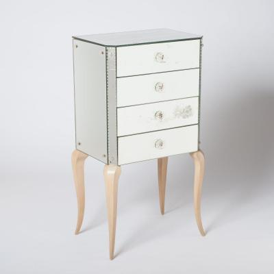 Small Mirrored Chest Of Drawer