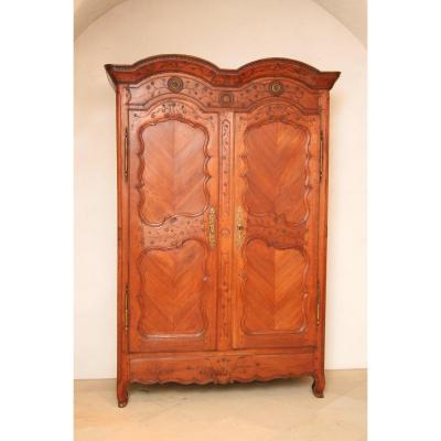 Wardrobe Transition Solid Cherry Wood Very  Fine Engraving