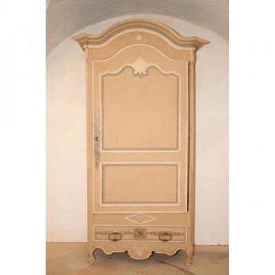 Bonnetière, Rococo français du XVIIIe siècle - armoire en bois peint