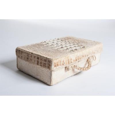 Art Déco Croco Leather Picnic Case